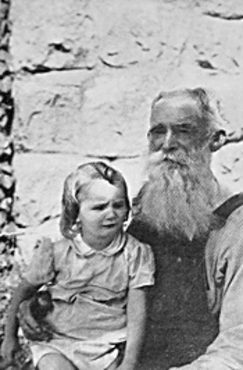 Polygamist patriarch Joseph Smith Jessop with his youngest daughter shortly before his death in September 1953.