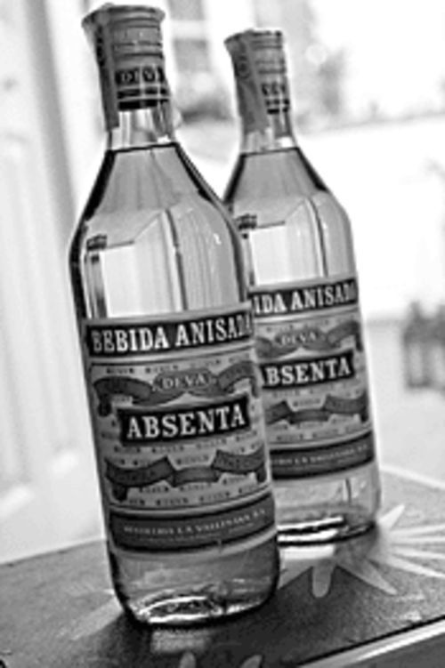 The poets' potion: bottles of true Spanish absinthe.