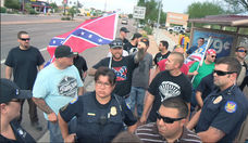 Confederate Flag Rally Gets Hostile