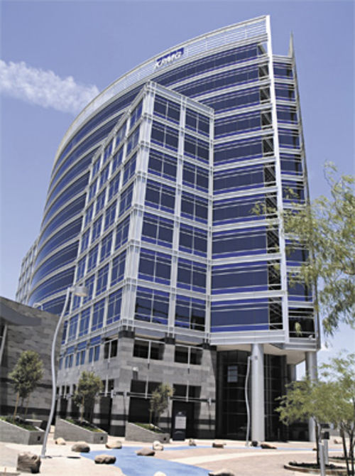 Last month, LifeLock expanded its offices and moved into this building near Tempe�s Town Lake.