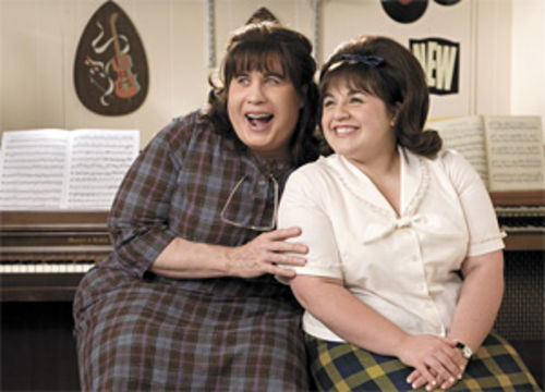 Not so dandy: John Travolta and Nikki Blonsky play mom and daughter in Hairspray.