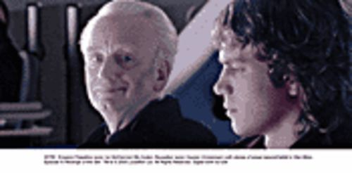 Force play: Ian McDiarmid (left) takes Hayden Christensen under his wing in Star Wars: Episode III -- Revenge of the Sith.