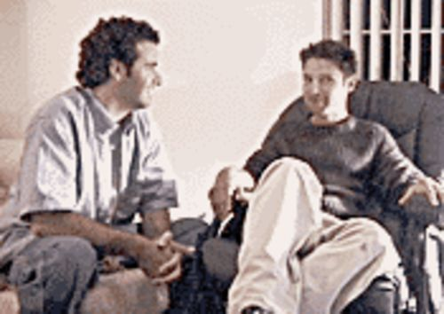 Wanna-be, meet has-been: Brian Herzlinger (left) chats with Corey Feldman in My Date With Drew.