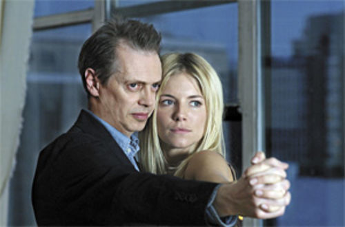 Screw job: Steve Buscemi and Sienna Miller dance around the truth in Interview.