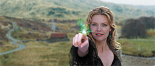 Every witch way: Michelle Pfeiffer casts a glow in Stardust.