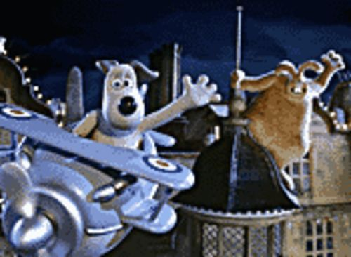Gromit takes to the skies to save all that we hold dear in Wallace & Gromit: The Curse of the Were-Rabbit.