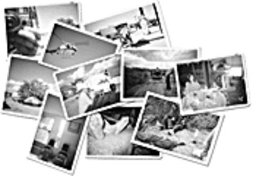 An assortment of photos taken by both migrants and Minutemen, to be included in an upcoming art exhibit.