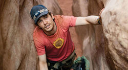 One-man show: James Franco considers the unthinkable in 127 Hours.
