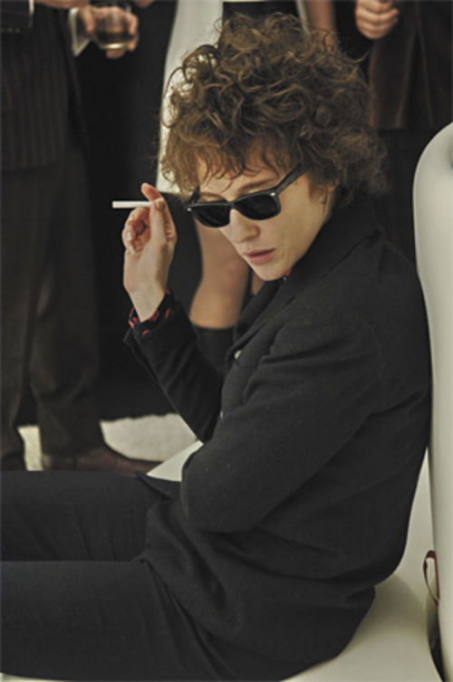 She's the man: Cate Blanchett channels Bob Dylan in I'm Not There.