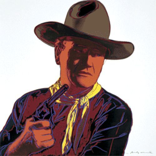 Cowboys and Indians (John Wayne), 1986, by Andy Warhol