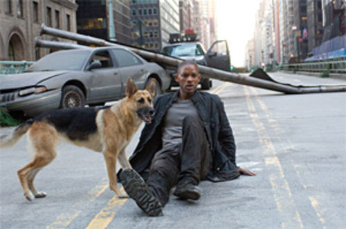 Omega boy and his dog: Will Smith and friend get very little rest in I Am Legend.