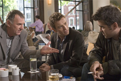 They're heavies and brothers: Tom Wilkinson (left) enlists Ewan McGregor and Colin Farrell in some nasty business in Cassandra's Dream.