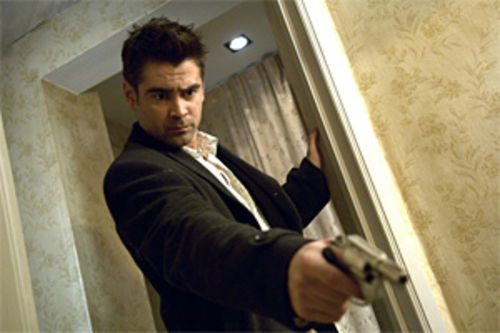 Low brows: Colin Farrell plays hapless to the hilt in the Scorsese-esque In Bruges.