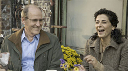 East meets West: Richard Jenkins and Hiam Abbass give liberals a bad name in The Visitor.