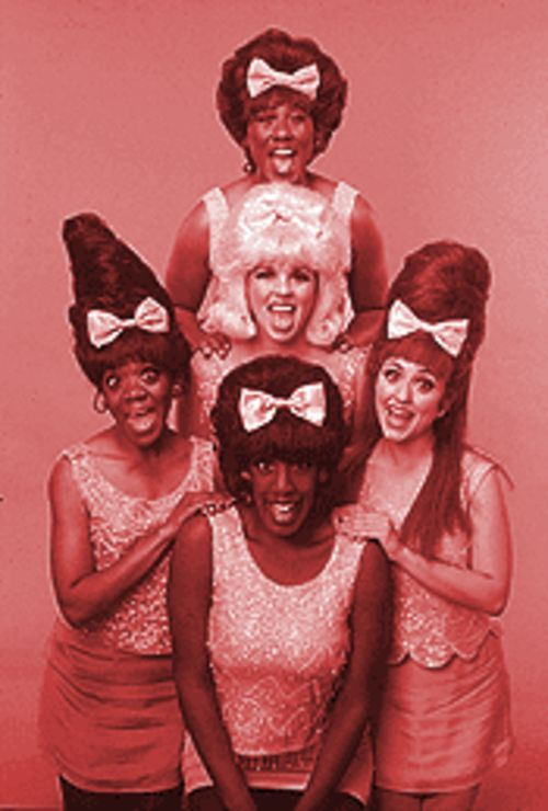 Beehive's gifted singers are Jeanine Pacheo (left), Meloney Collins (bottom center), Heather Jones (center), Katherine Todd (top) and Erahn Patton-Stinson (right).