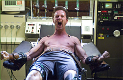 Anger mismanagement: Edward Norton can't keep a good monster down in The Incredible Hulk.