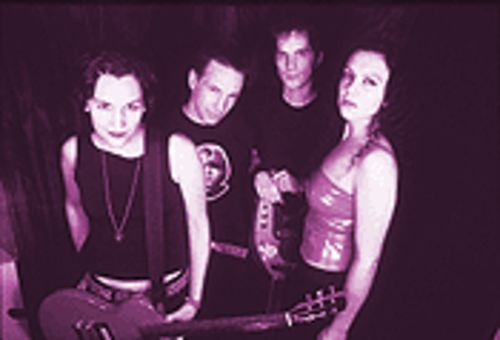 Road Warriors: The Groovie Ghoulies, from left, Roach, Kepi, B-Face, Amy.