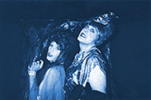 Jim Asimenios (left) and Neil Cohen emote like crazy in Vampire Lesbians of Sodom.