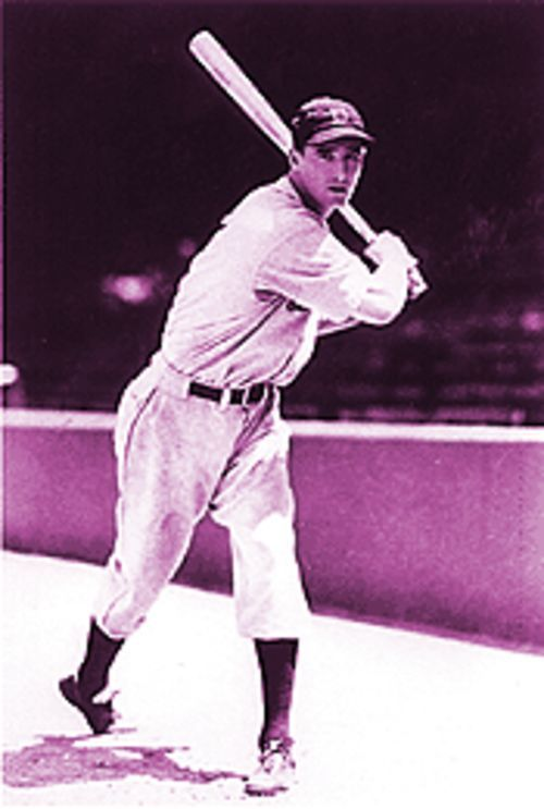 Hammerin' Hank Greenberg in 1930.