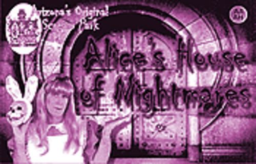 One pill makes you larger: Alice in Wonderland hosts one of the three haunted houses at Arizona's Original Scream Park.