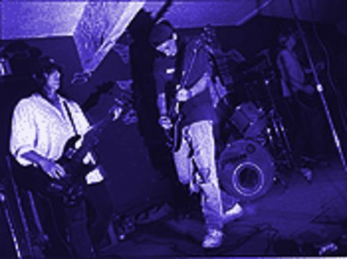 We could all wear ripped-up clothes: Dead Hot Workshop onstage at Tony's New Yorker in the early '90s.