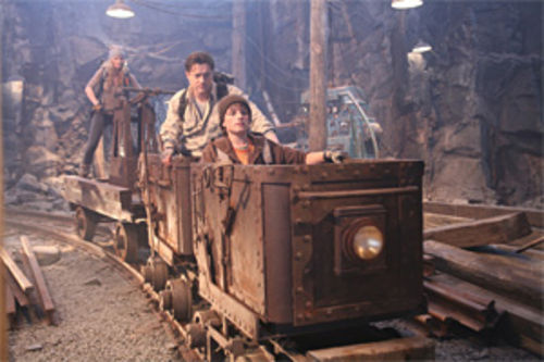Miner thrills: Brendan Fraser and gang rip off Indy in Journey to the Center of the Earth.