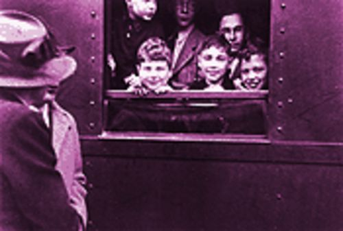 Kinder prepare to leave the Berlin-Charlottenburg station in Germany in May 1939 in the documentary Into the Arms of Strangers.