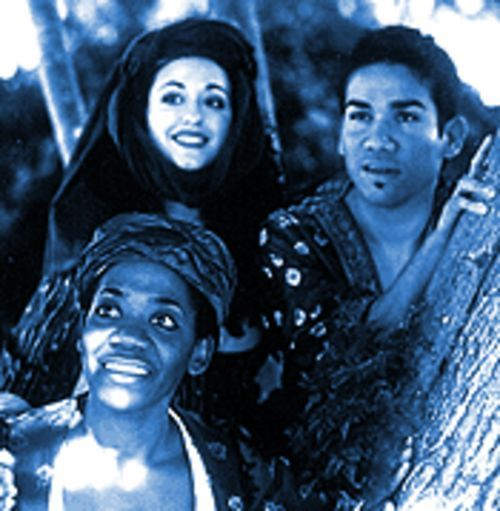 Children of Eden cast members Evahm Patton, Jeanine Pacheco and Tony Castellano.