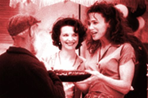 La Dolce Vita: Juliette Binoche (center) and Lena Olin in Chocolat.