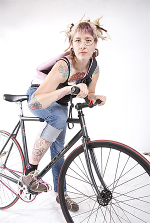 Fixed-gear enthusiasts enjoy the simplicity of their bikes.