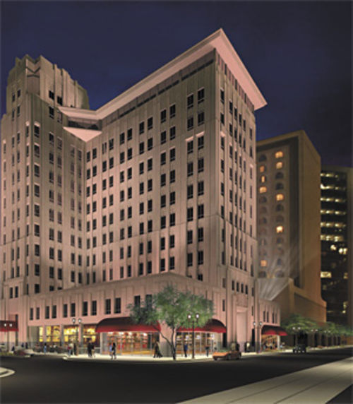 Hotel Monroe in Phoenix is one of the multimillion-dollar projects now stalled because Scott Coles couldn't fund the mortgage.