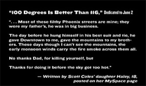 Click the image above to read a poem by Scott Coles' daughter Haley.