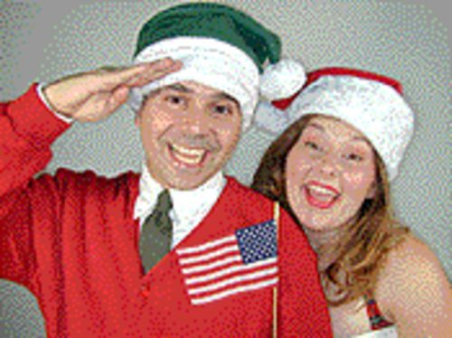 Flag waiver: Steven Goodfriend and Laura Freeman head up a show that's crammed with Christmas chestnuts and high-pitch patriotism.