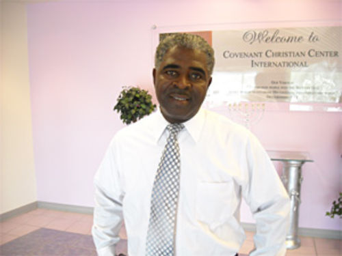 Pastor Stacy Lee at his church, Covenant Christian Center, in Peoria.