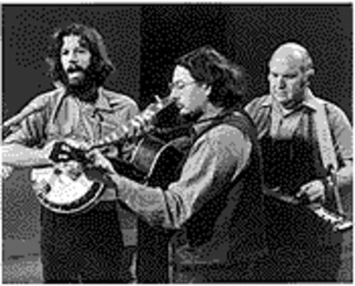 From left, John Hartford, Norman Blake and Tut Taylor.