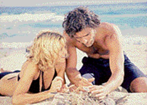 Living in an immaterial world: Madonna and Adriano Giannini in Swept Away.
