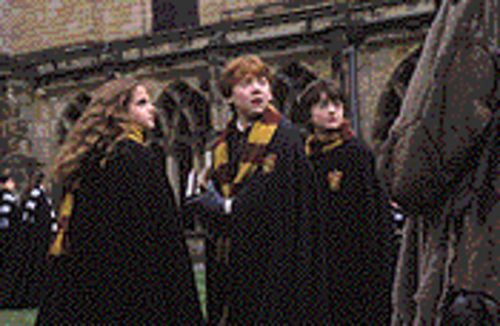 Wizards of awes: Emma Watson, Rupert Grint and Daniel Radcliffe escape the sophomore jinx in Harry Potter and the Chamber of Secrets.
