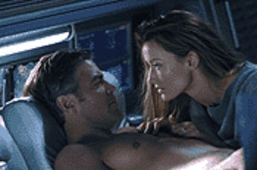 Star-crossing lovers: George Clooney and Natascha McElhone in Solaris.