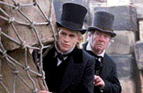 Having a Dickens of a time: Charlie Hunnam and Tom Courtenay in Nicholas Nickleby.