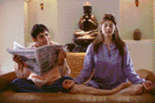 Let's hope Marisa Tomei meditates far better script choices than playing with Jimi Mistry in The Guru.