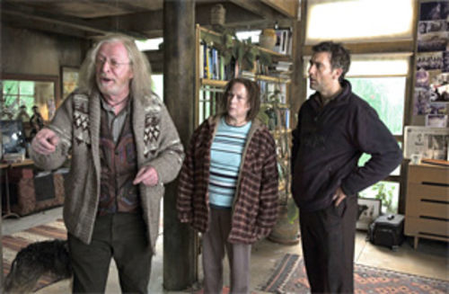 Baby blues: Michael Caine, Pam Ferris and Clive Owen try to save humankind in Children of Men.