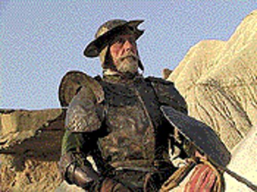 Chivalry isn't dead, it just ceased production: Jean Rochefort as Don Quixote in Lost in La Mancha.