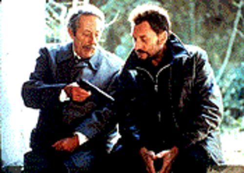 French twist: Jean Rochefort and Johnny Hallyday form an unlikely friendship in Man on the Train.