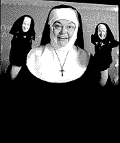 Nun sense: Patti Hannon explains it all to you in Late Nite Catechism.
