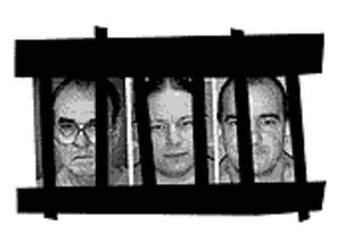 Death-row innmates (from left to right) Richard Glassel,  Tim Ring and Phil Bocharski.