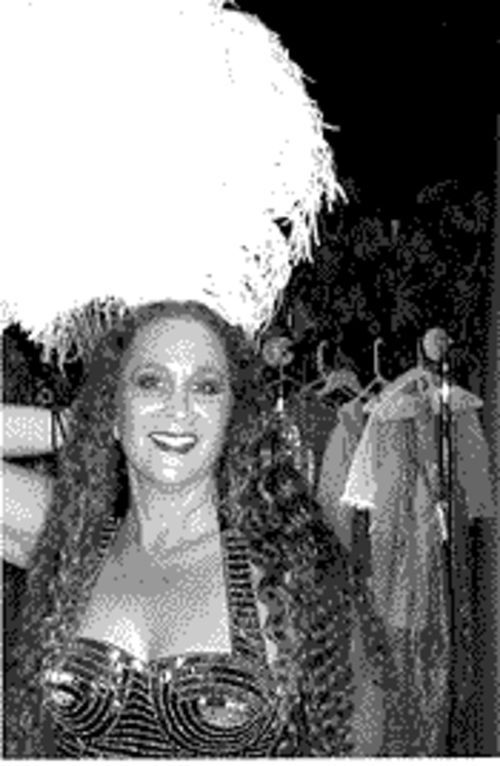Donna Kaufman routinely stands-in as Aphrodite.