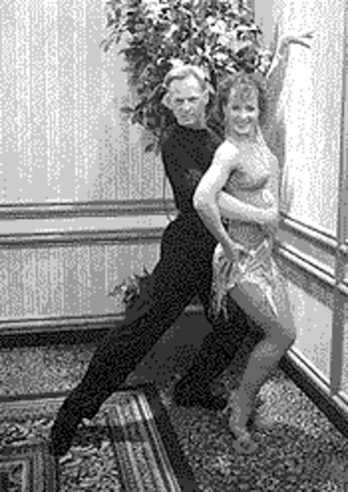 Two to tango: Rob Haines poses with his dance coach, Reisa Alexander.