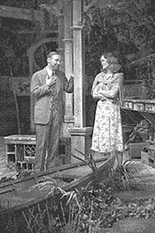 Michael Santo and Angela Reed stage a romantic standoff in Talley's Folly.