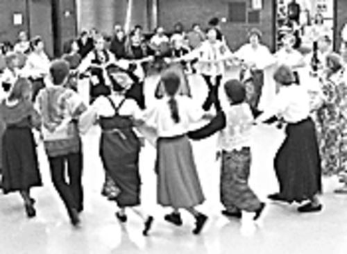 Global feet: Folk dancers from around the world participate in the Phoenix International Folk Dancers Festival.