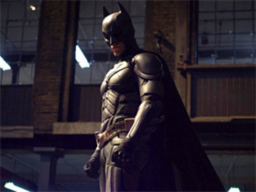 Christian Bale is Batman in The Dark Knight.